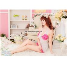 03445 Sleep Lingerie Underwear Pyjamas Nightwear Skirt +Panty 1b6d15a3d