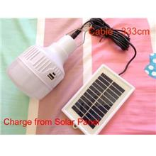 3 Modes Light Portable Solar USB Lamp Bulb Emergency Camping