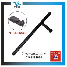 58CM T Baton Stuff Stick Security Patrol Stick With Free Pouch