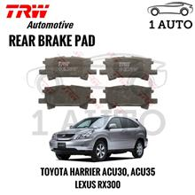 TRW REAR BRAKE PAD for TOYOTA HARRIER ACU30, ACU35, LEXUS RX300