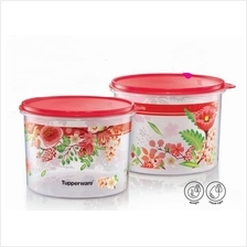 Tupperware Lucky Blooms Canister (2) 2.4L