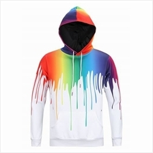 DRIP PAINT 3D PRINT PULLOVER HOODIE (COLORMIX)