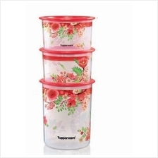 Tupperware Lucky Blooms One Touch Set (3pcs)