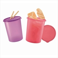 Tupperware Tall Canister Set (2) 10L - Purple  & Candy