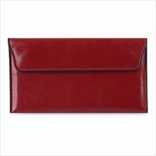 HASP CLOSURE ENVELOPE DESIGN WALLET WITH MINI BAG FOR LADIES (RED)