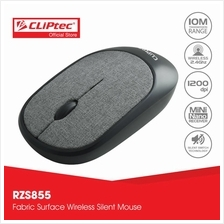 CLiPtec FABRIC XILENT 2.4Ghz Wireless Fabric Silent Mouse RZS855)