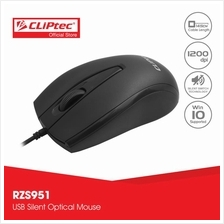 CLiPtec XILENT SCROLL 1200dpi Silent Optical Mouse RZS951)