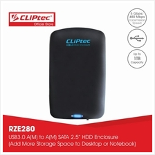 "CLiPtec POCKET-PASSPORT 2.5 "" USB 3.0 SATA HDD Enclosure RZE280)"