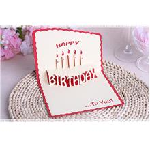 3D Happy Birthday Card PT025