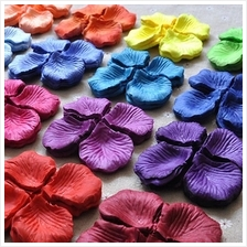 Artificial Polyester Flowers Silk Rose Petals Confetti 450pcs