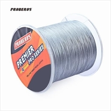 500M DURABLE PE 4 STRANDS MONOFILAMENT BRAIDED FISHING LINE (Grey)