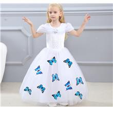 Disney Cinderella Elegance Dress with butterfly_WHITE