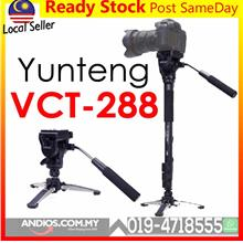 YUNTENG VCT-288 Camera Monopod + Fluid Pan Head + Tripod Holder Canon