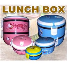 1 TIER / 2 TIER CARTOON STAINLESS STEEL LUNCH BOX