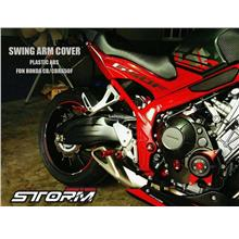 STORM CB650F CBR650F Swing Arm Cover and Chain Cover -- Carbon