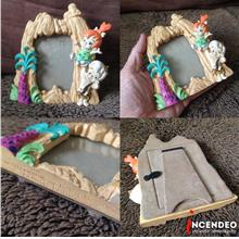 **incendeo** - HannaBarbera Flintstones Pebble n BammBamm Photo Frame