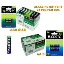 SONY ALKALINE AA/AAA BATTERY (1BOX-24PCS)