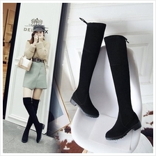 Women Korean Fashion Over the Knee Suede Fashion Boots Plus Size