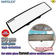 Car Vehicle-mounted curved white 270mm large-field view glasses mirror