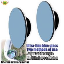 blue glasses Ultra-thin adjustable Reduction Circular mirror