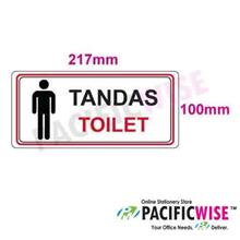 """Toilet(Male)"" Sticker Sign"
