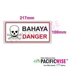 """Danger"" Sticker Sign"