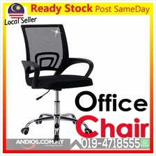 Ergonomic office chair Swivel.Kerusi Ofis Fabric Comfort Meja Duduk