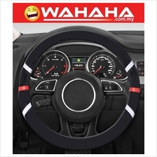Brand New Steering Wheel 71313 Black With White and Red Strip Cover