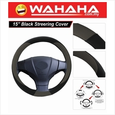 Brand New 15 Inches Steering Wheel 71345 Black and Grey Cover