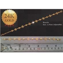 **CELLY**  24K Gold Plated Bracelet