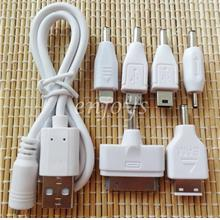 6H Retractable USB Charging Cable for Yoobao ViViS Power Bank ~WHITE
