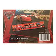 Cars 2 Lightning McQueen Happy Birthday Party Banner 150cmx30cm 068349