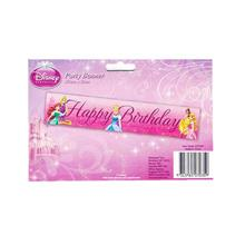 Princesses Happy Birthday Party Banner 150cmx30cm  070359