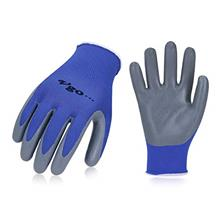 Vgo 10Pairs Nitrile Coating Gardening and Work Gloves (Size M, Blue, NT2110)