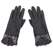 PAIR OF ELEGANT BOWKNOT AND LACE DECORATION TOUCH SCREEN GLOVES FOR WOMEN (GRA