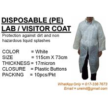URE PE Plastic Disposable Lab Coat / Visitor Coat (FREE POS)