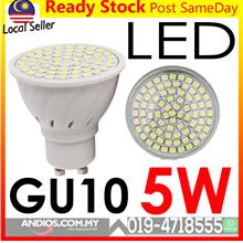 GU10 80 LEDs Spotlight Bulb 5W Lamp Light Bulb Mentol Lampu Energy Sav