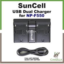 SUNCELL USB DUAL CHARGER FOR NP-F550