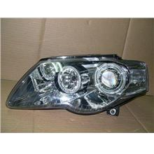 DEPO VW PASSAT '06-08 Projector Head Lamp LED Ring [Chrome Housing]