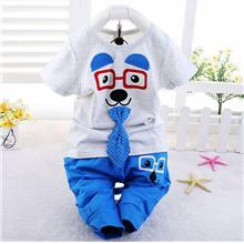 00368 Baby Kids Short Sleeves Cute Puppy Clothing Set