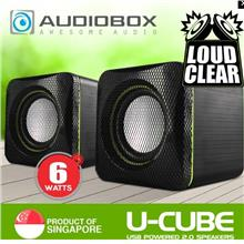AUDIOBOX USB POWERED 2.0 SPEAKER U-CUBE