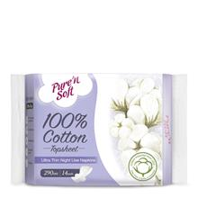 PURE  & SOFT Ultra Thin Night Use Napkins 14s)
