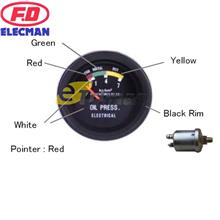 F.D Elecman Oil Pressure Meter Automotive Gauge