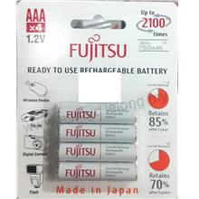 FUJITSU AAA 4PCS 1.2V 750MAH RECHARGEABLE BATTERY
