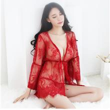80a139e15b Red Chantilly Lace Robes Pyjamas Sleepwear Sexy Lingerie S438