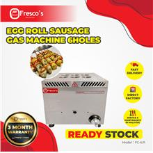 Mesin Sostel Gas Egg Roll Sausage 6 Holes