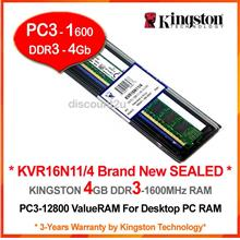 KINGSTON DDR3-1333 (PC-10600) DESKTOP PC RAM Memory (KVR13N9S8)