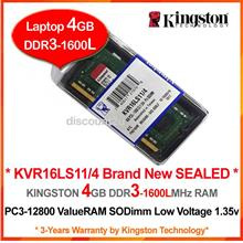 KINGSTON 4GB DDR3-1333 PC-10600 LAPTOP/NOTEBOOK RAM Memory (KVR13S9S8)