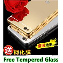 Xiaomi Redmi 3 24K Mirror Metal Case Cover Casing +Free Tempered Glass