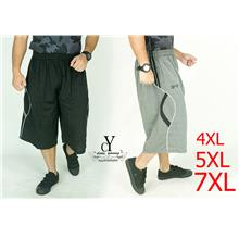 CY 2127 PLUS SIZE KPOP EXERCISE GYM BASKETBALL SHORT PANT BESAR